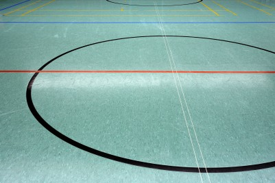 gym floor black lines