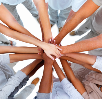Hands in Huddle Go-team pose_iStock_000008506606XSmall
