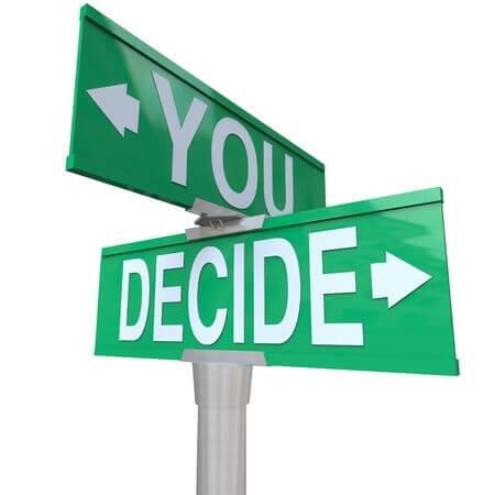 you decide street sign