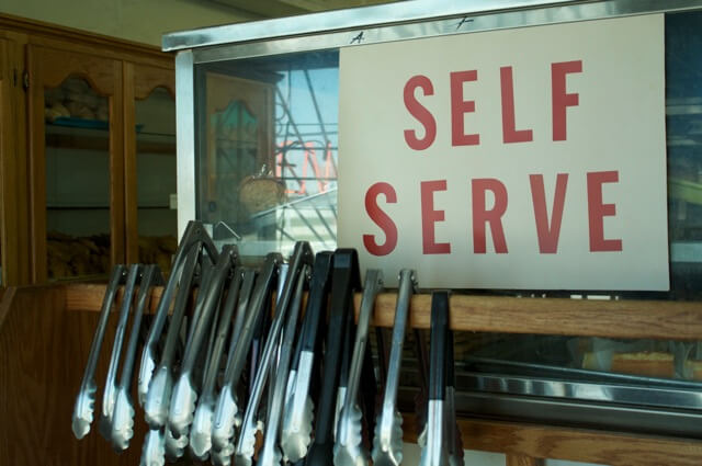 self serve at restaurant